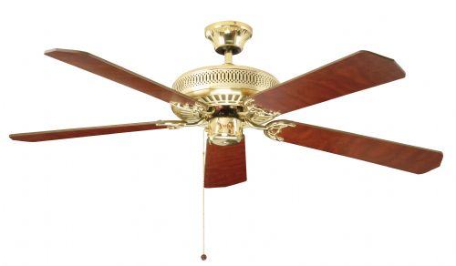 "Fantasia Classic 52"" Polished Brass Ceiling Fan 110019"